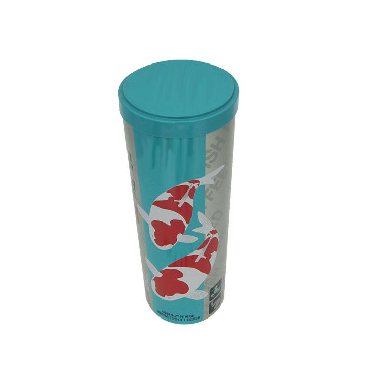 圆形鱼饲料铁罐