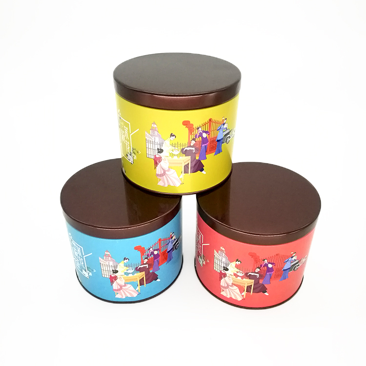 圆形茉莉花铁罐