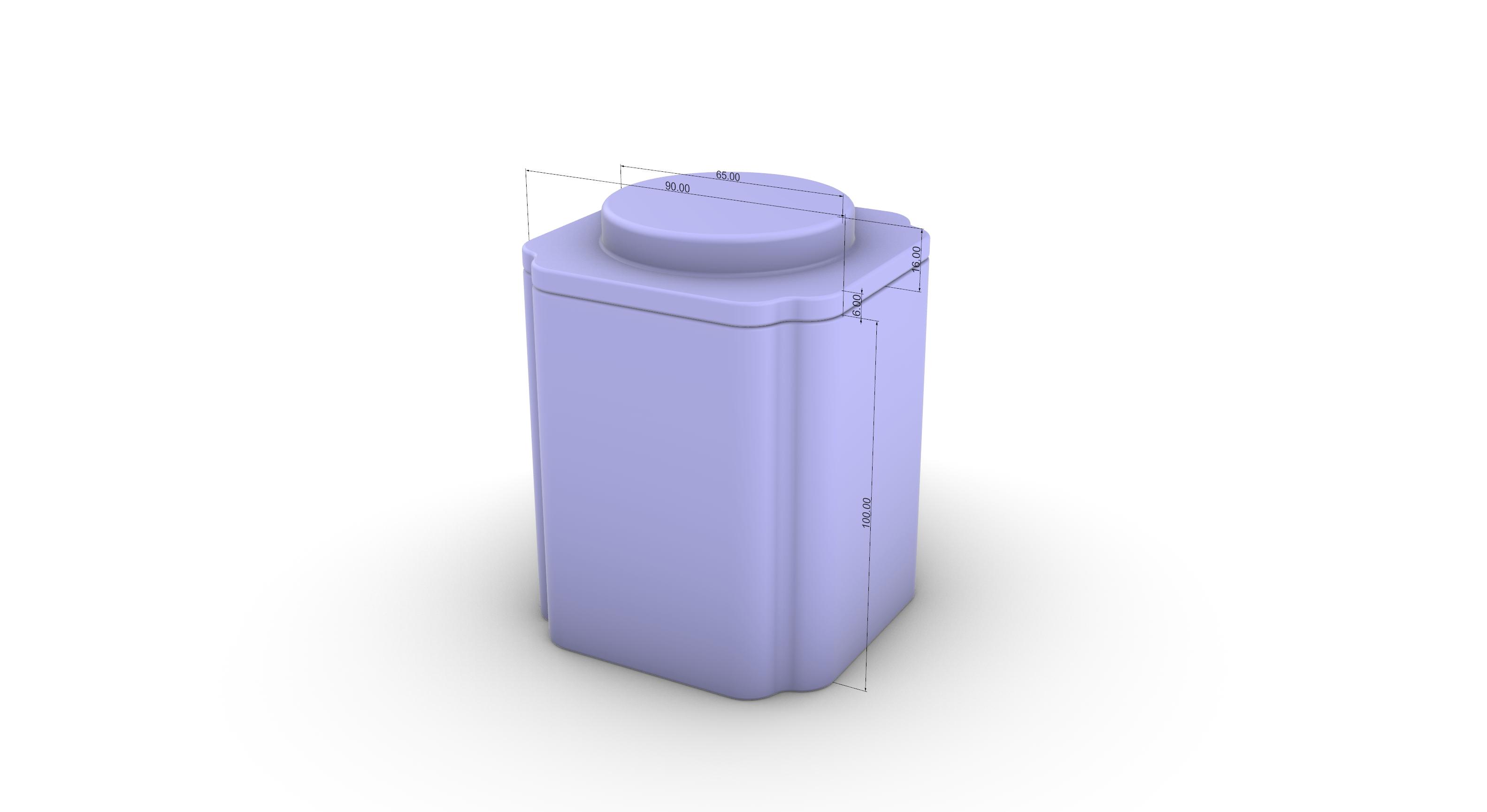 茶叶铁罐结构设计案例